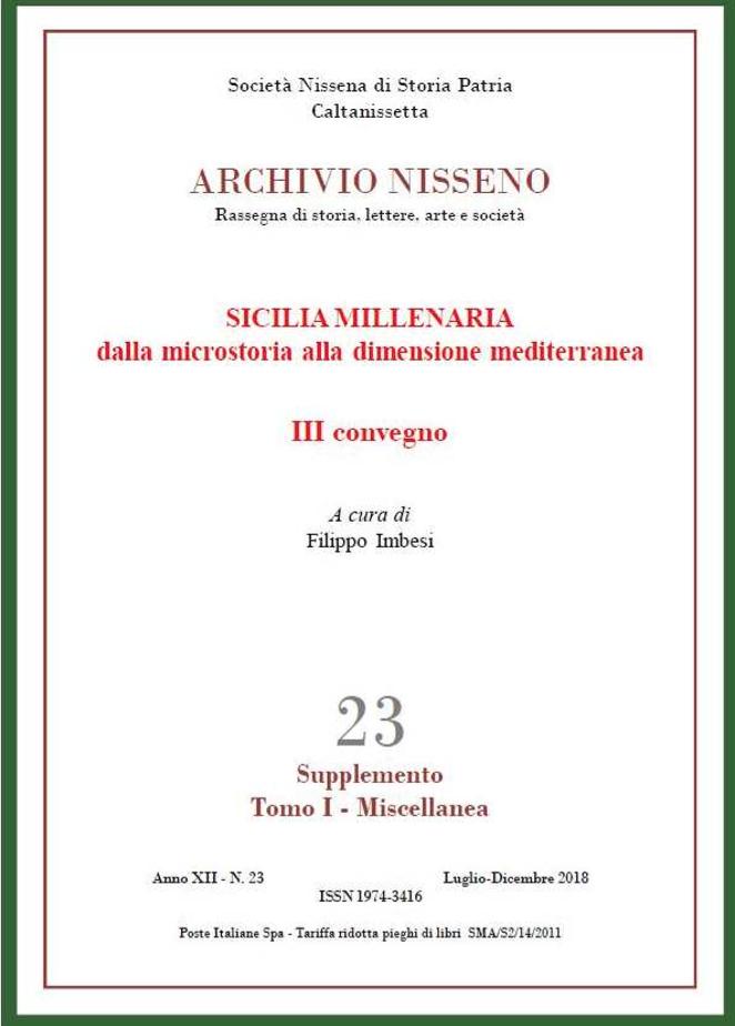 Archivio Nisseno 23 Supplemento