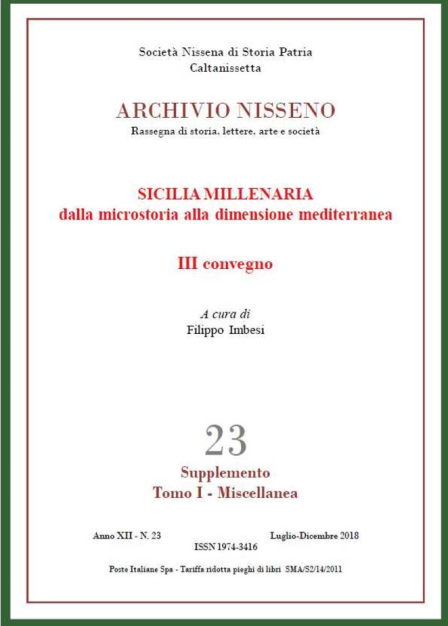 Archivio Nisseno 23 Supplemento